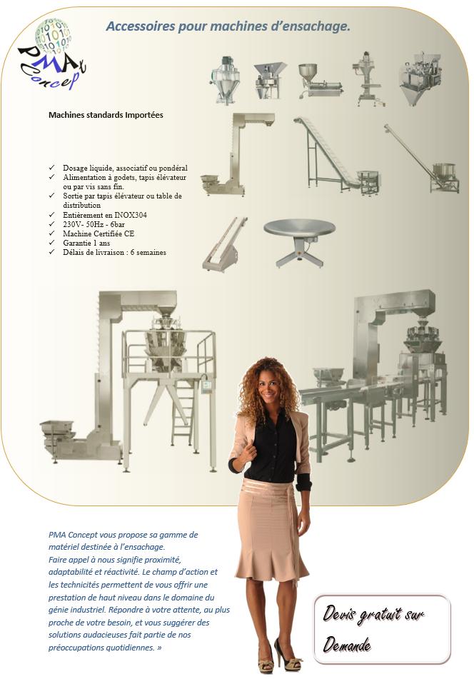 machine verticale accessoires avec vendeuse